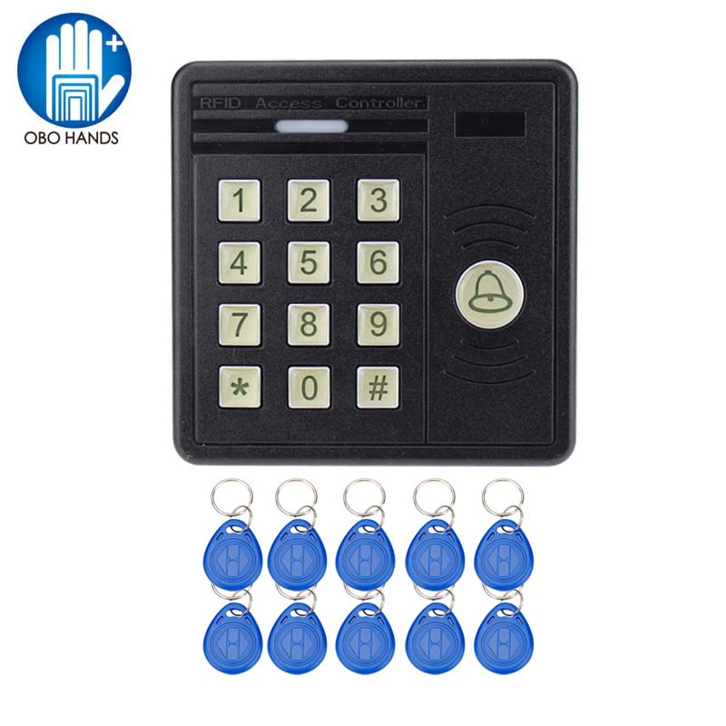IP43 Waterproof Access Controller Keypad for RFID Card Door Access Control System with Door Bell Button metal rfid em card reader ip68 waterproof metal standalone door lock access control system with keypad 2000 card users capacity
