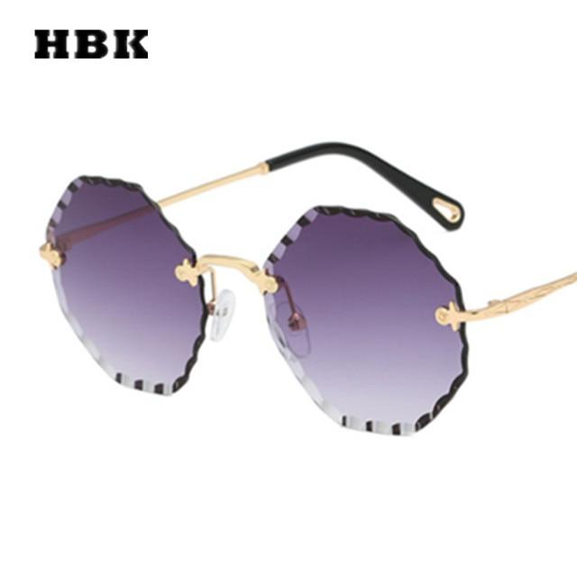78d6919fab Gafas de sol redondas HBK modes Oculos Grandes Vintage mujeres marca  diseñador de lujo 2019 nueva