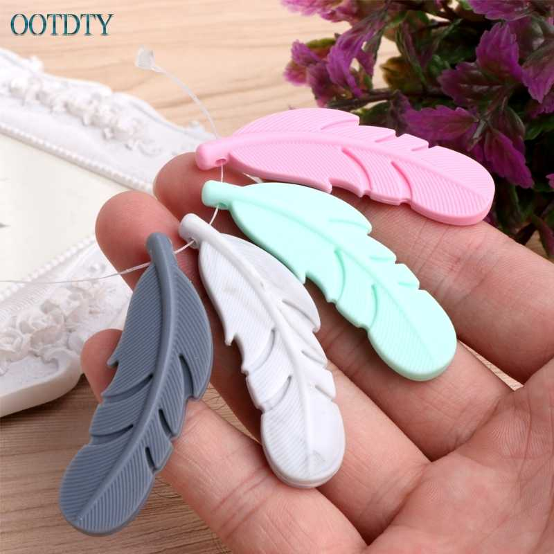 1 шт. кулон для кормящих перьев детский силиконовый Прорезыватель сажа жевательная игрушка ожерелье-прорезыватель #330
