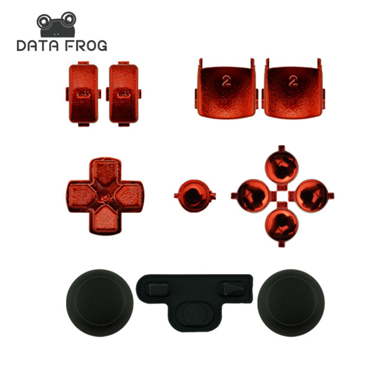 Custom Chrome Red Dpad L1 R1 L2 R2 Triangle, Circle,For sony PS3 for PlayStation 3 Controller Square and X buttons start/select