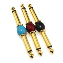 5PCS/LOT Golden Plated 6.35mm 1/4 Male Mono Plug To 6.35 Audio Adapter
