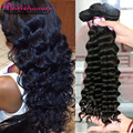 7A Peruvian Virgin Hair Loose Wave Hair Style 3pcs Peruvian Loose Curly Virgin Human Hair Weave Bundles RosaQueen Hair Products