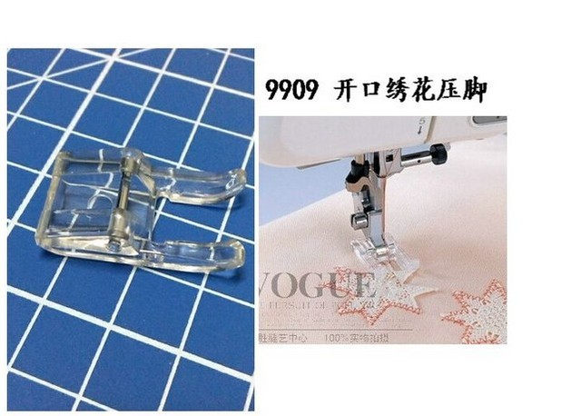 Domestic Sewing Machine Parts Open Toe Embroidery Foot Presser Foot