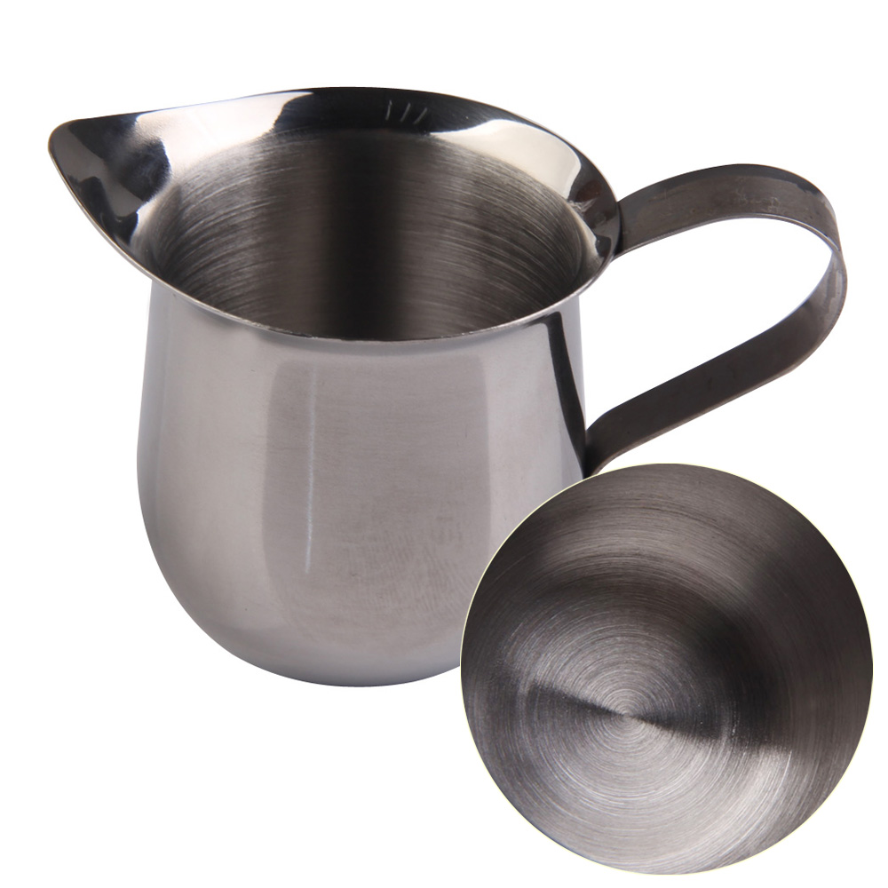 delicate kitchen accessories stainless steel coffee cup small milk cream waist shape cup jug. Black Bedroom Furniture Sets. Home Design Ideas