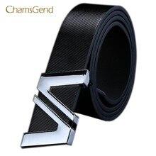 98db68a9e7840 Chamsgend nouvelle mode hommes femmes automatique lettre boucle en cuir  taille sangle ceintures May12(China
