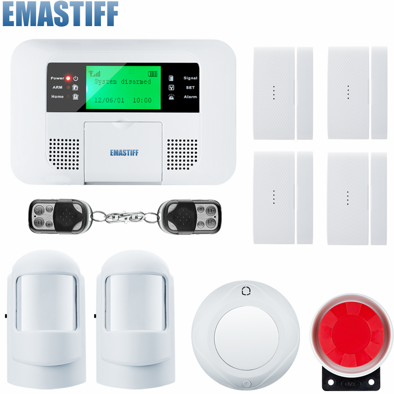 New arrived wholesale Wireless PSTN GSM Alarm System 433MHz Home Burglar Security Alarm System for your home security wireless smoke fire detector for wireless for touch keypad panel wifi gsm home security burglar voice alarm system