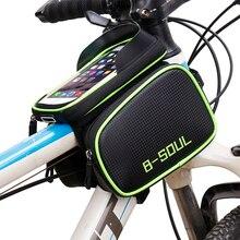 B-SOUL велосипедная Передняя сумка для телефона с сенсорным экраном на раме, сумка для горного велосипеда с верхней трубкой, сумка для велосипеда, Аксессуары для велосипеда
