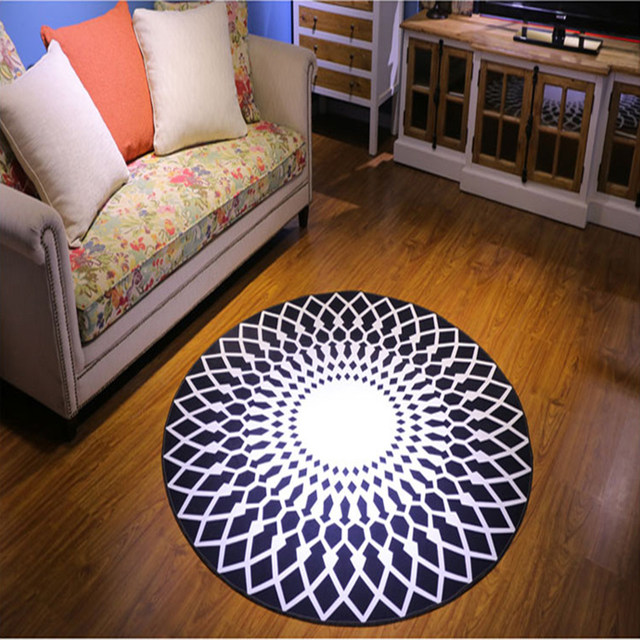 Abstract Geometric Area Rug And Carpet Soft Round Floor Door Mat Tapete  Tapis Cuisine Carpets For Kids Living Room Home Decor
