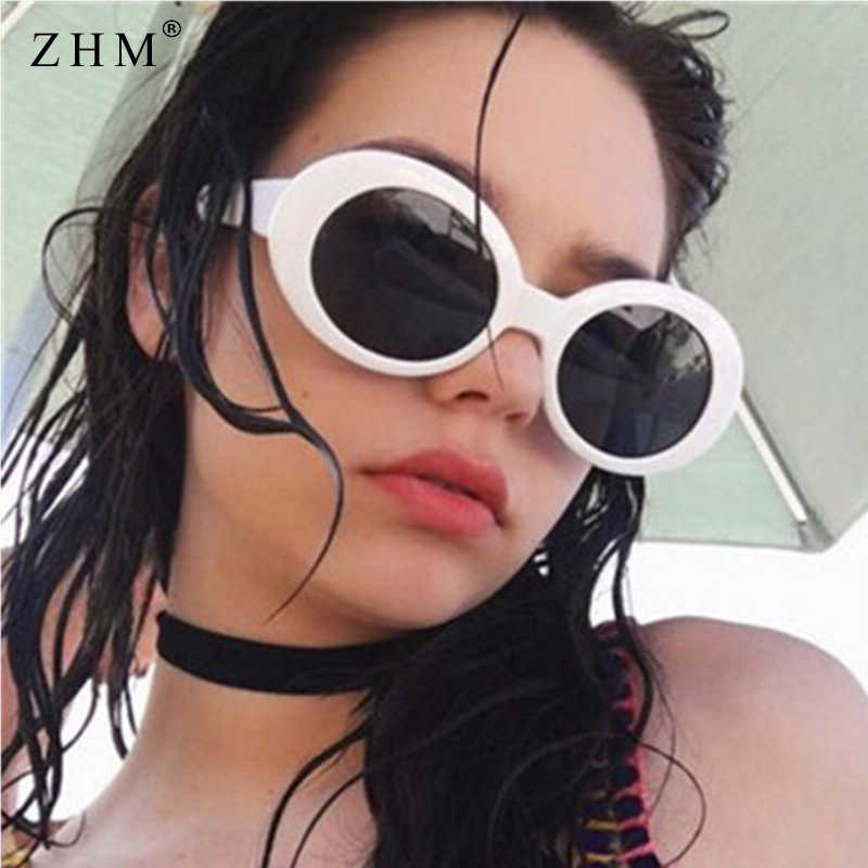 2b937c1e63286 Vintage Oval Sunglasses Women Brand Designer Retro Sunglass Men Fashion  Female Male Eyewear Sunglass kurt cobain