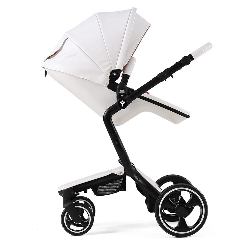 Luxury Baby Stroller 2 in 1 High View Prams For Newborns Folding Baby Carriage Can Sit and Lie Portable Stroller For Infant luxury baby stroller high landscape baby carriage for newborn infant sit and lie four wheels