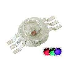 50 шт. светодиодный чип высокой мощности 3 Вт RGB светодиодные COB бусины 3 Вт световая лампа 6 контактов полноцветный красный зеленый синий для ...