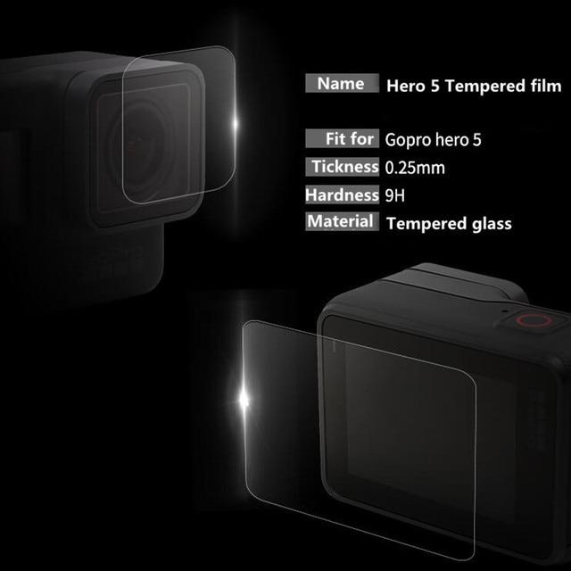 Trempé Film Pour Gopro Hero 7 6 5 Accessoires Protecteur Trempé Écran Pour Go Pro Hero 7 6 5 Noir camera Action 1