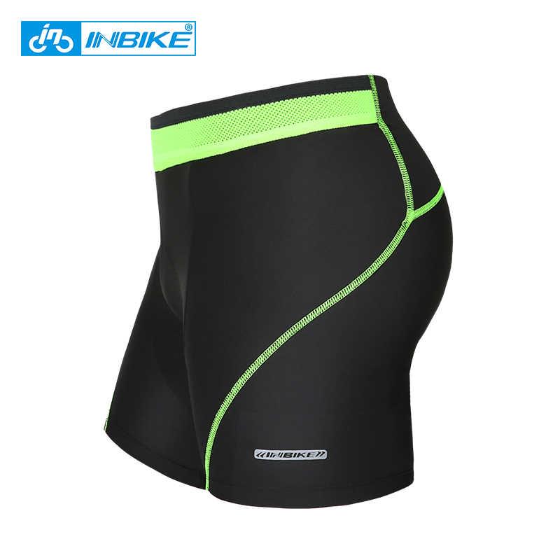 INBIKE 3D Acolchoado dos homens Underwear Calções de Bicicleta de Montanha MTB Da Bicicleta Da Bicicleta MTB Ciclismo Shorts Equitação Esporte Meias De Compressão Calções