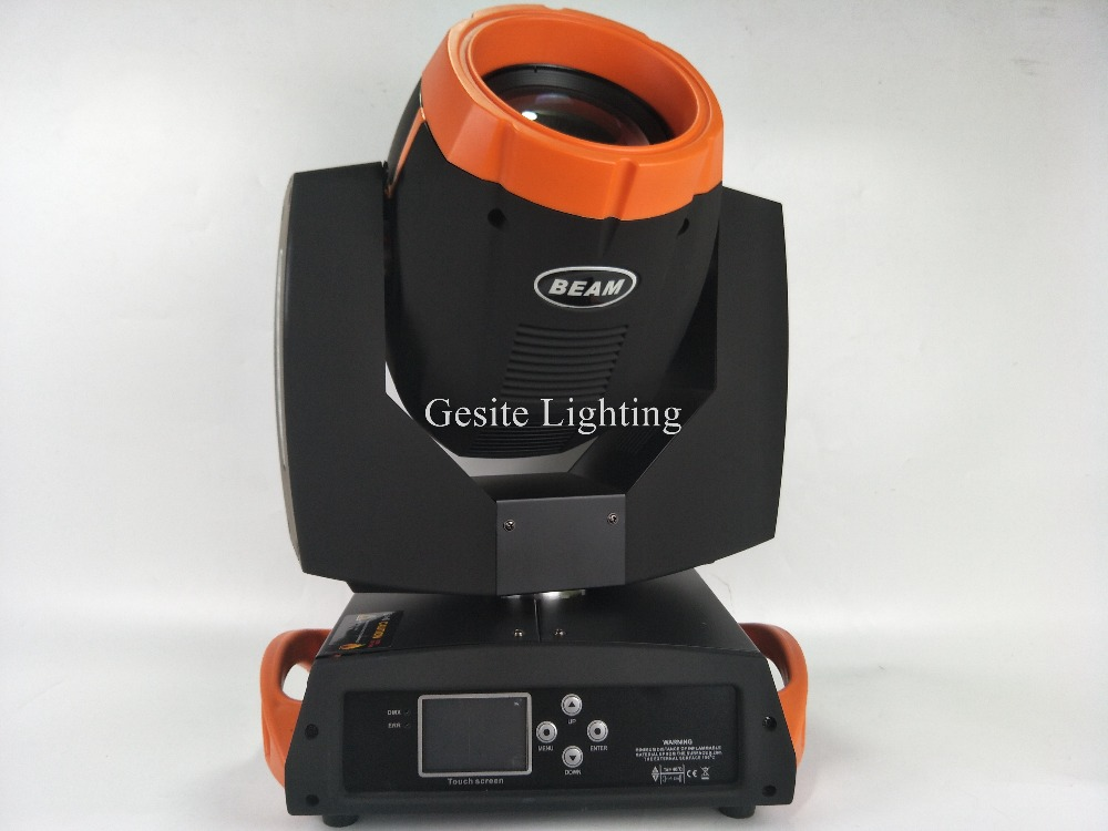 2pcs new sharpy beam 7R moving had light orange color case new glass gobo good eeffect