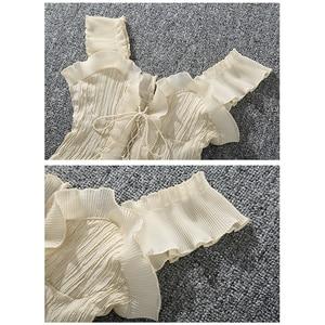 Image 4 - Shintimes 2020 novo verão outono bustier branco preto tanque superior feminino sexy bandagem sem mangas colheita superior zíper mulher roupas