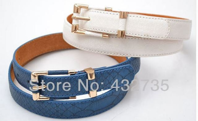 Fashion Cinto Feminino Couro Pin Buckle Thin Waist Belts For Jeans Women Dress Faux Leather With Snake Skin Print Female Belt