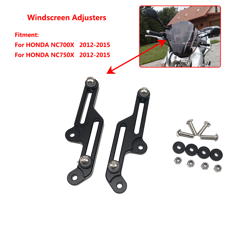 New Motorcycle Windscreen Adjusters Airflow Adjustable Windscreen Wind For HONDA NC750X NC 750X NC750 X XD/XA 2012 2013 2014 015