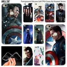 Captain America Chris Evans Soft Silicone Case for Huawei NOVA 3 3i 4 Honor 7A Pro 7S 6X 7X 8X 8 9 10 Lite Play View 20 Cover(China)