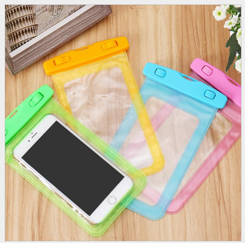 Universal Sealed Mobile Phone Waterproof Bag Dustproof Touch Screen Hang Neck Diving Swimming Hot Spring Protection