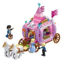 Calèche de Tephanie amis sermoido construction princesse Juniors calèche de rêve de cendrillon Compatible avec Legoings