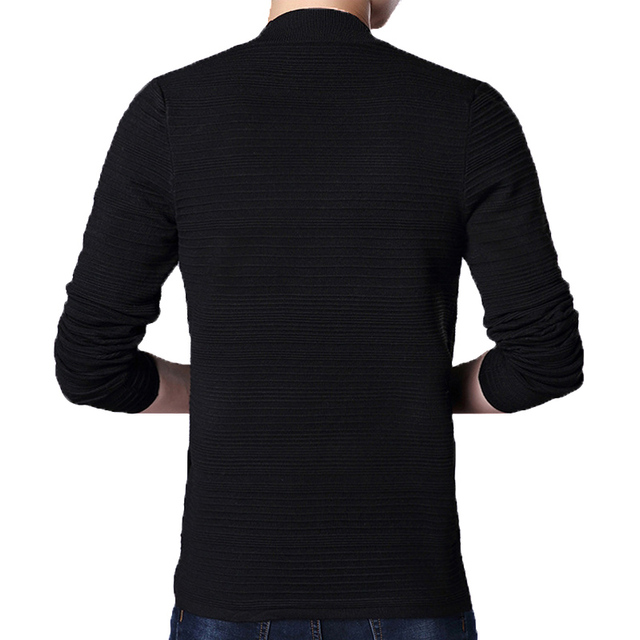 AmberHeard Mens Sweater Fashion Spring Autumn Cardigan Long Sleeve Sweater Coat Slim Fit Knitting V-Neck Swaeter For Men Clothes