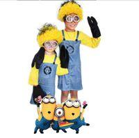 Детский костюм для костюмированной вечеринки для мальчиков и девочек подарок Гадкий я Детский костюм Миньоны ткань Мини корпус производит...