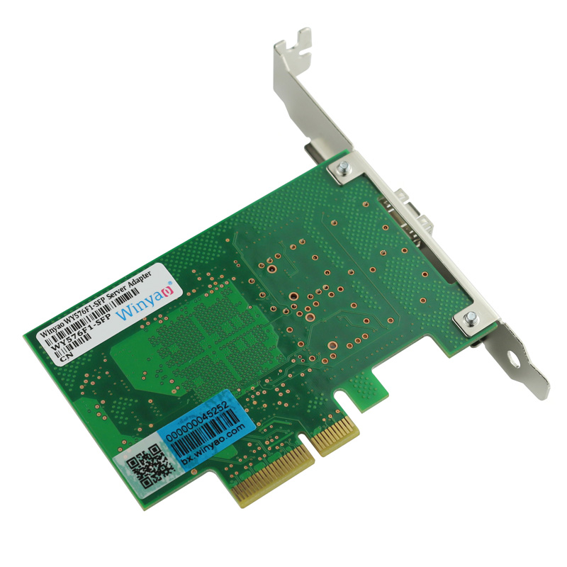 Single Port Gigabit Fiber Server Adapter PCIe X4 Card JL82576EB Chipset  LC9400PF-in Network Cards from Computer & Office