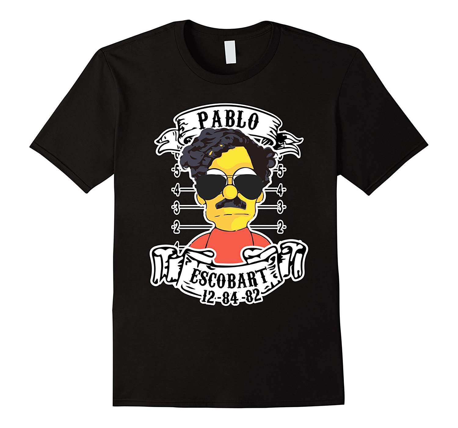 Escobart Merchandising Apparel Pablo Mugshot T-Shirt Short Sleeve Cotton T Shirts Man Clothing O-Neck Tee Shirt