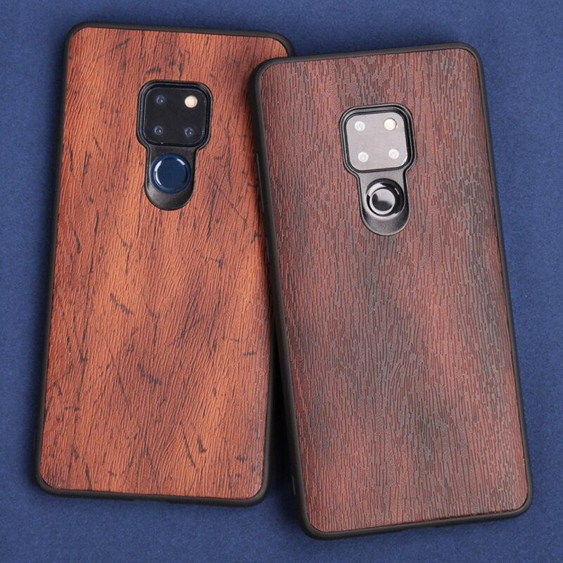 Caja del teléfono para huawei Mate 9 10 20 lite P10 P20 lite caso madera textura suave funda para huawei honor 8 8X9 10 Nova 3i Capa