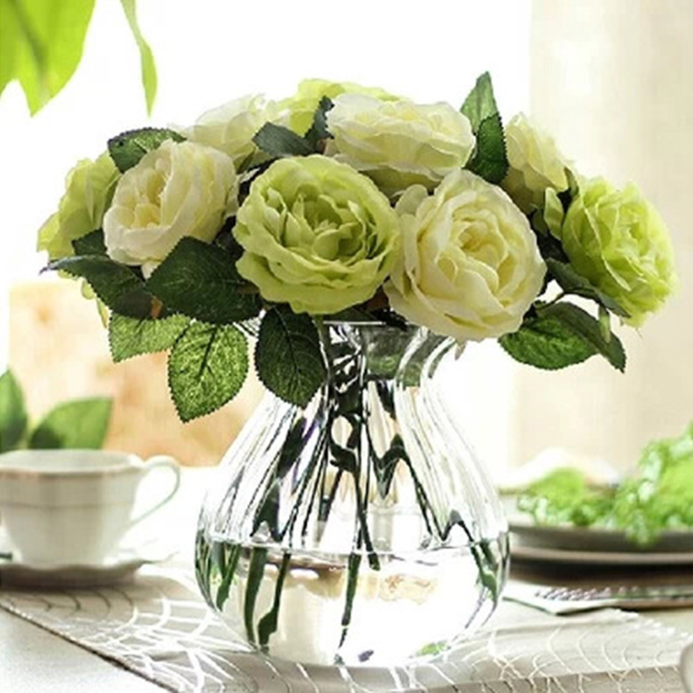 Online get cheap wholesale roses cheap aliexpress alibaba group 13pcs rose artificial flowers home wedding tale decoration bridal bouquet wholesale cheap rose pink white green izmirmasajfo Image collections