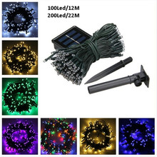 100/200 Leds Solar Power Fairy Light LED String Lamp Party Halloween Christmas Garden home Decor Outdoor Solar Powered String цена