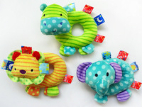 Multifunctional baby animal hand bar rattle BB rod elephant lion hippo 0-24months unisex toy Rattles Mobiles musical Plush Toys
