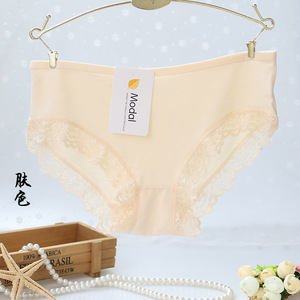 Image 5 - 5pcs/lot cotton girls underwear solid low waist short briefs comfortable Antibacterial woman panties 100% brand new