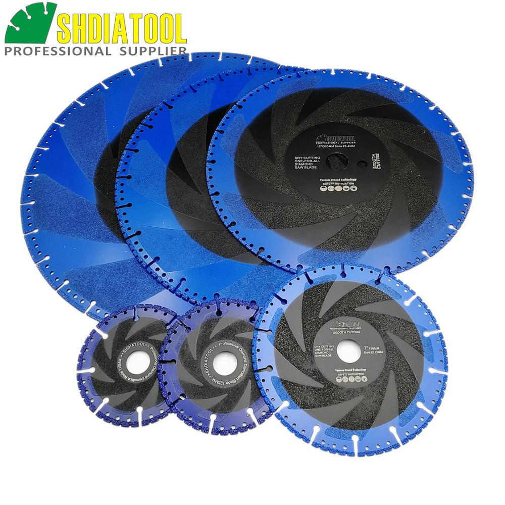 SHDIATOOL 1pc Vacuum Brazed Diamond Blades For All Purpose Stone Iron Steel Demolition Cutting Disc