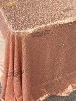 Commercio all'ingrosso 50 Yards In Oro Rosa Con Paillettes Tessuto by the yard di alta Qualità 3mm Tessuto Paillettes per Sequin Contesto Decorazione di Nozze FAI DA TE