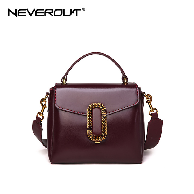 Neverout Brand Name Handbag Tote Split Leather New Design Women Bag Female Fashion Flap Bags Oil