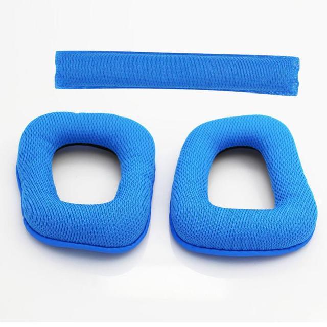 chaussure sélectionner pour authentique magasin discount Meilleur prix une paire de coussinets d'oreille en mousse souple de  remplacement un coussin de bandeau pour casque Logitech G430 G930 aug1
