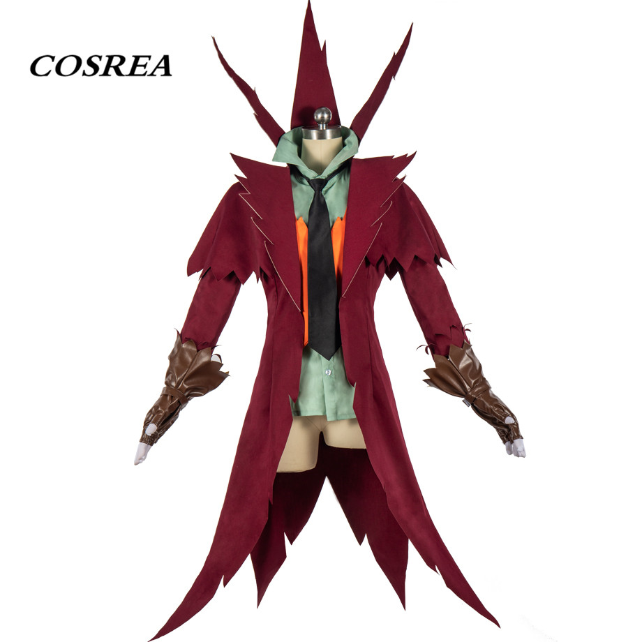COSREA Hot Game Identity V Jack Cosplay Costume Full Set Costumes With Vest Tie Halloween Carnival Party For Adult Man