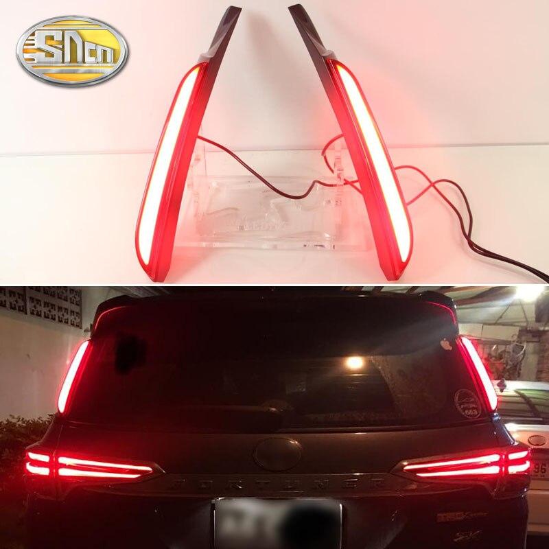 For Toyota Fortuner 2015 2016 2017 SNCN Car LED Tail Light Rear Bumper Light LED Brake