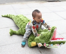super huge lovely simulaiton plush crocodile toy lovely big creative crocodile pillow gift about 220cm