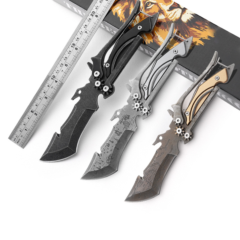 Outdoor 2 In 1 Multi-function Scissors Portable Camping Hiking Travel Knives Pocket Survive Tactics EDC Knife Tools