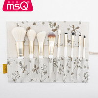 MSQ 10pcs Eyeshadow Makeup Brushes Set Pro Rose Gold Eye Shadow Blending Make Up Brushes Soft