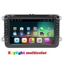 8 дюймов quad core android 7.1 автомобиля DVD навигации для VW Golf 6 2010 2011 2012 2013 GPS головное устройство автомобиля радио стерео с Зеркало Ссылка