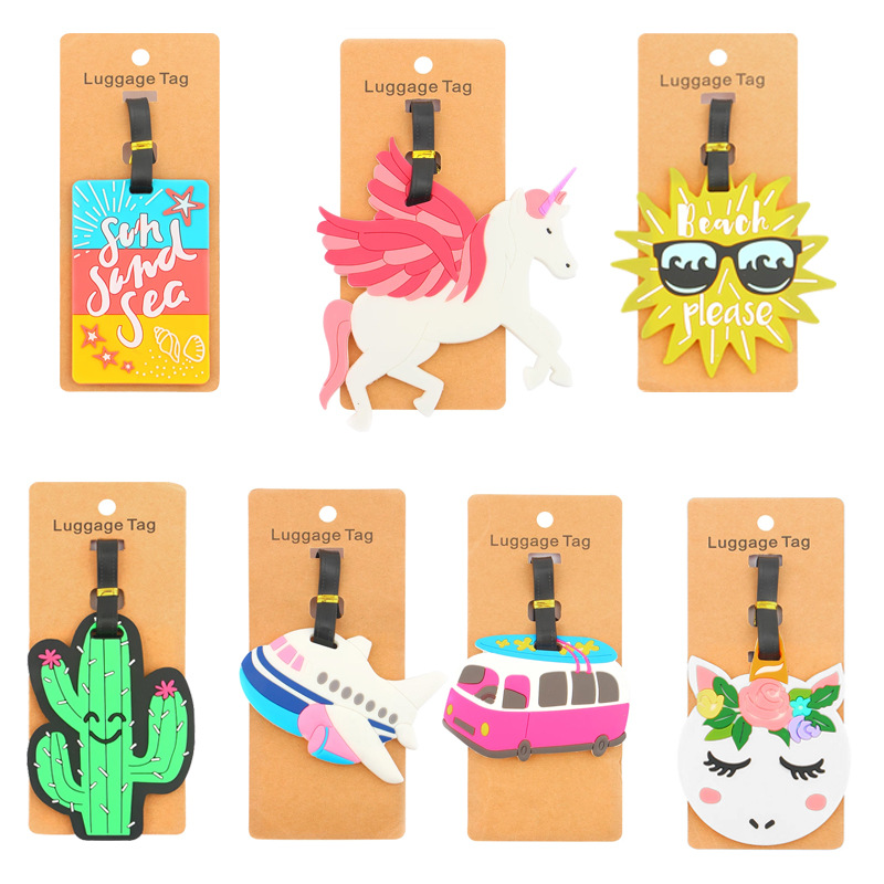Travel Accessories Creative Fruit Food Shell Luggage Tag Silica Gel Suitcase ID Addres Holder Baggage Boarding Portable Label