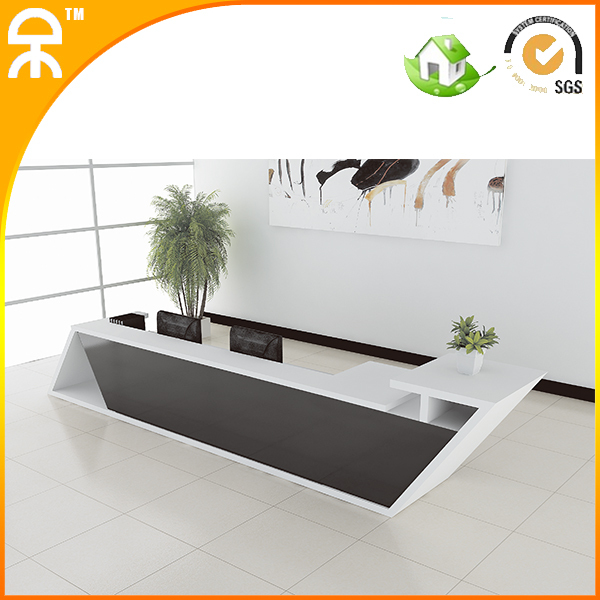 3.9meter (12.7ft)2014 New Design Fashionable White Wooden Reception Table  Counters With Smoke Glass #QT3900 In Reception Desks From Furniture On ...