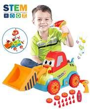 Грузовик для сборки игрушек diy строительный бульдозер грузовик