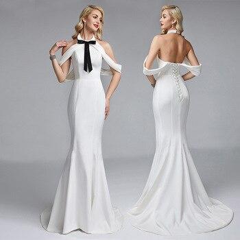 a784dc996 MUXU blanco backles vestido de moda vestidos sexy traje mujer largo vestido  de fiesta ropa elegante para ropa de punto Mujer vestidos