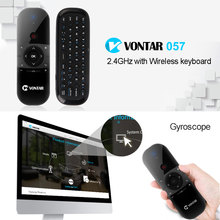 VONTAR Air Mouse Gyro Sensing sensor 2.4G Wireless Keyboard English Russian keyboard Remote Control For computer Android tv box