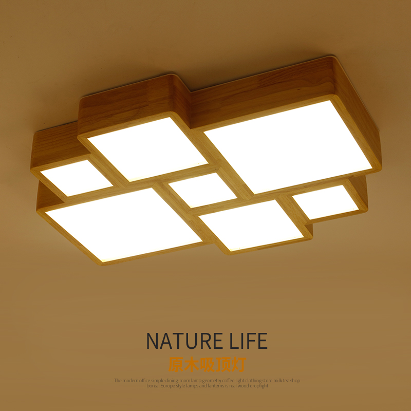 Massivholz Original Deckenleuchte Minimalistischen Wohnzimmer Lampe Kopf Holz Schlafzimmer Deckenleuchten ZA MZ107