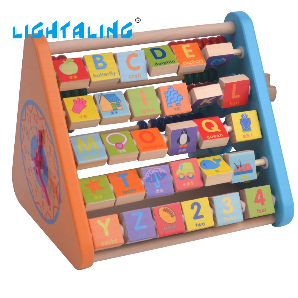Lightaling Math Toy Colorful Bead Wooden Animal Abacus Child Educationnal Calculate Math Learning Teaching Tool Kid baby Toy gigo science toys 1603 colorful animal pattern work cards model building kits teaching aid math balance for kids arithmetic